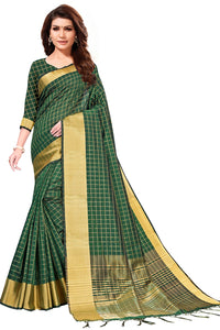Bhelpuri Green Art Silk Saree