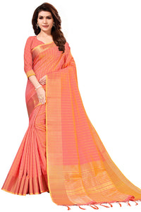 Bhelpuri Baby Pink Art Silk Saree