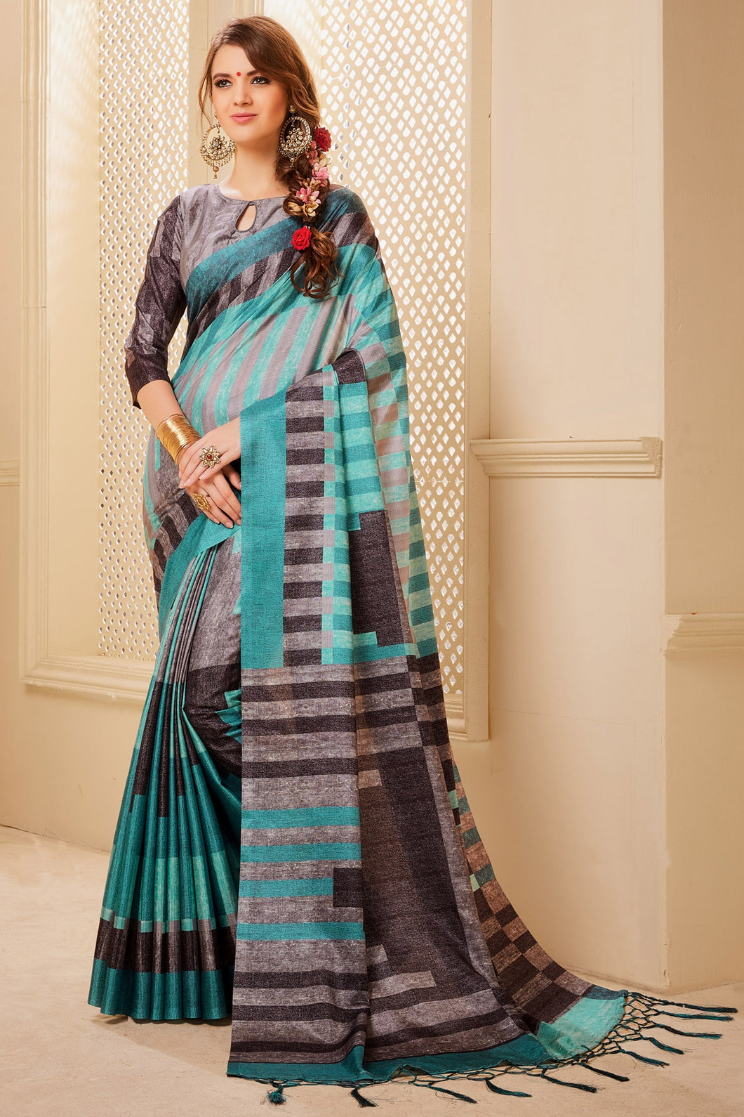 Bhelpuri Multi Colour Manipuri Silk Saree
