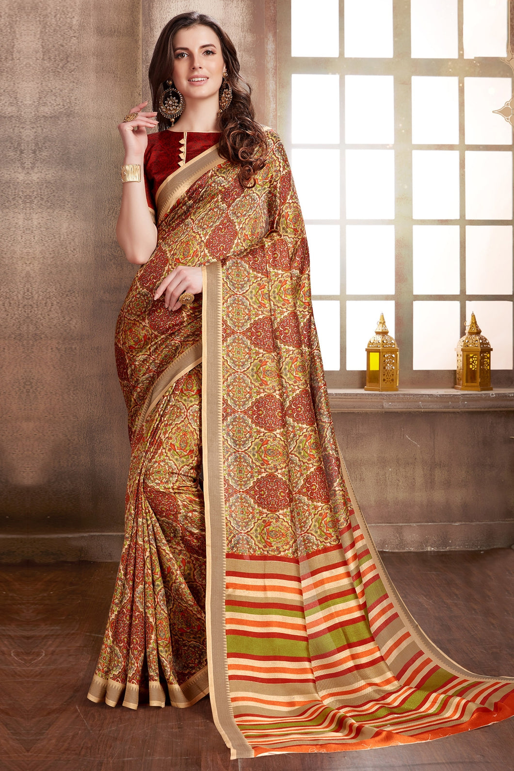 Bhelpuri Multi-Color Manipuri Silk Saree