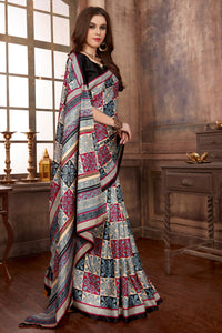 Bhelpuri Multi-Colour Manipuri Silk Printed Saree