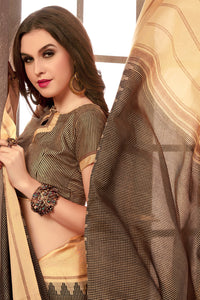 Bhelpuri Brown Manipuri Silk Saree