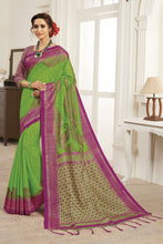 Load image into Gallery viewer, Bhelpuri Green Bhagalpuri Silk Saree