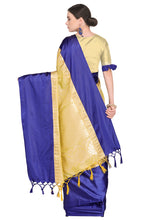 Load image into Gallery viewer, Bhelpuri Cream Banarasi Katan Silk Woven Saree with Blouse Piece