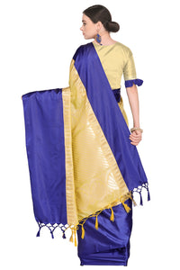 Bhelpuri Cream Banarasi Katan Silk Woven Saree with Blouse Piece