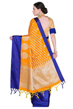 Load image into Gallery viewer, Bhelpuri Orange Banarasi Katan Silk Woven Saree with Blouse Piece