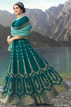 Load image into Gallery viewer, Bhelpuri Green Colour Silk & Jacquard Salwar Suit