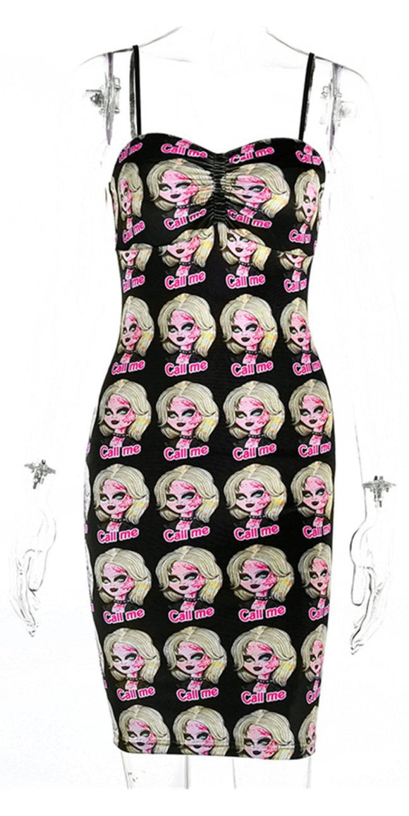 "Chucky' Bride ""Call Me"" Fitted Dress"