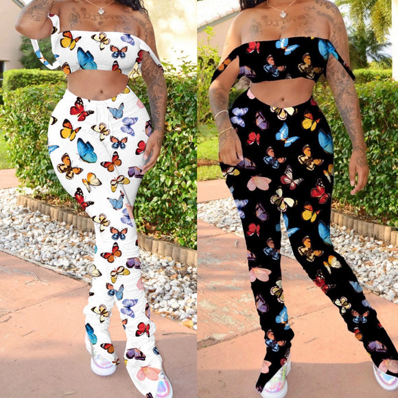 Butterfly Effect Two-piece Pants Set