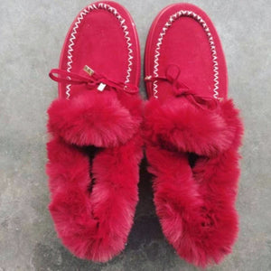 Winter Furry Moccasins