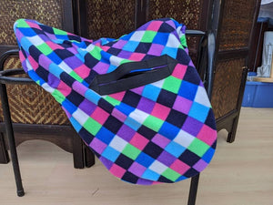 Harlequin ride on saddle cover