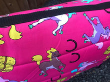 Load image into Gallery viewer, Pink horses saddle pads/fleece numnahs