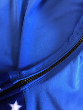 Load image into Gallery viewer, Royal blue lycra hood with fleece ears and nose band