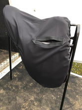 Load image into Gallery viewer, Black water resistant ride on saddle cover