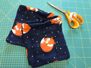 Small stirrup Covers, printed fleece