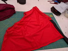Load image into Gallery viewer, Red lycra bib
