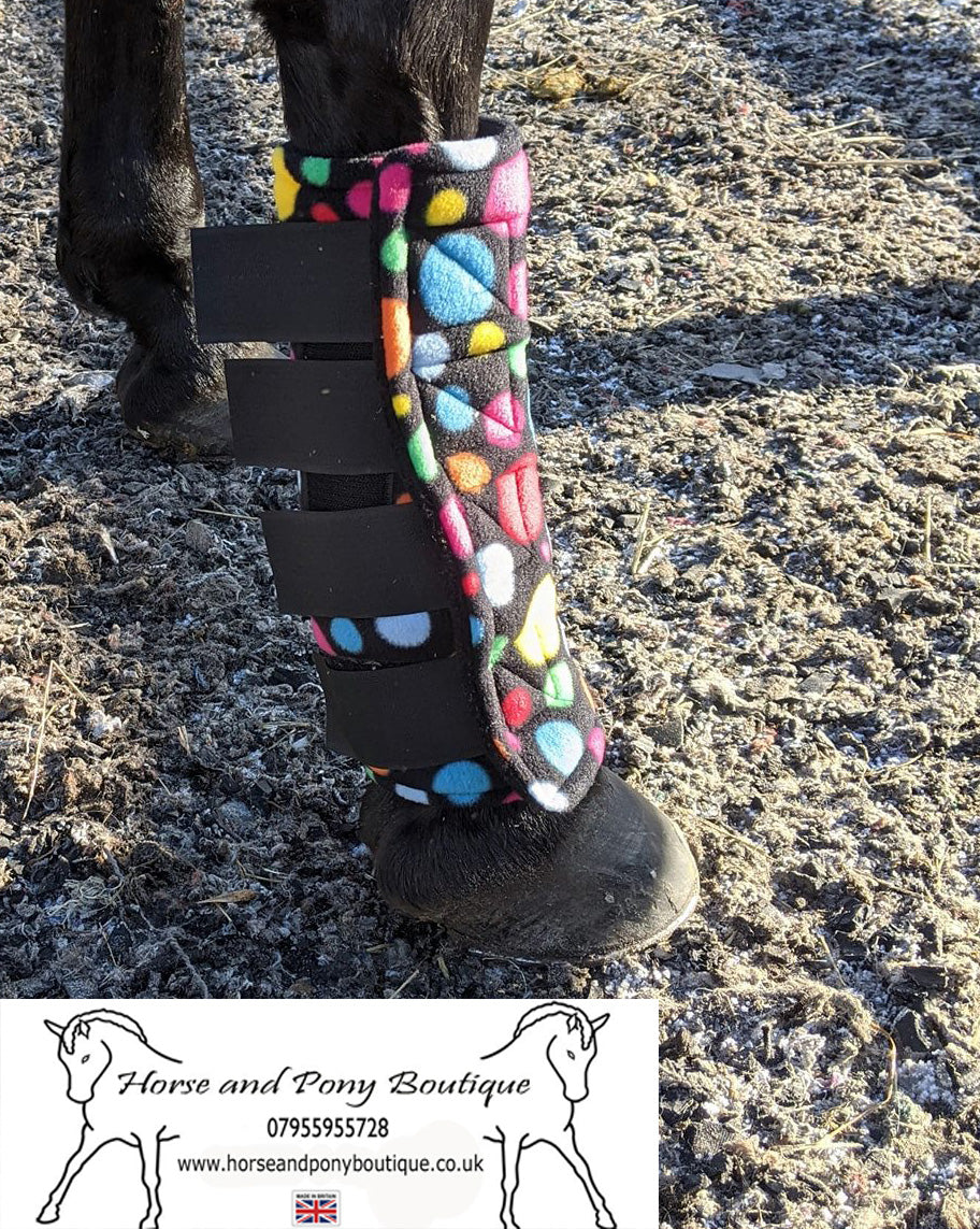 Square padded all fleece bubble boots