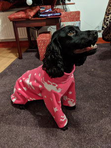 Fleece dog onesies