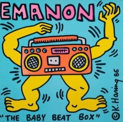 Emanon - The baby beatbox (BOOMBOX)  (With Frame), 1986
