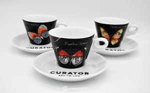 CURATOR x d'ANCAP, Magic Butterfly Cappuccino Cup with Saucer Set