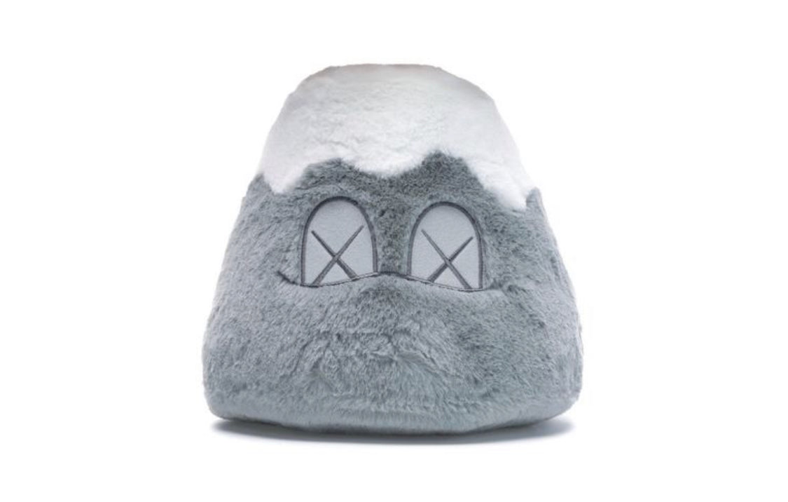 KAWS: HOLIDAY Japan Mount Fuji Plush Toy (Grey), 2019
