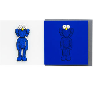 KAWS x NGV BFF Greeting Card with Puffy Sticker (Blue), 2019