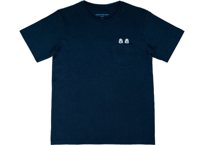 KAWS HOLIDAY JAPAN Pocket T-Shirt (Navy)
