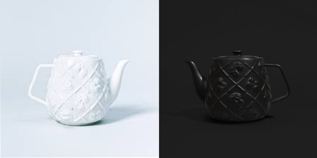 KAWS Teapot Set (Black and White), 2020