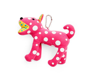 Ring-ring Plush Keychain (Pink)