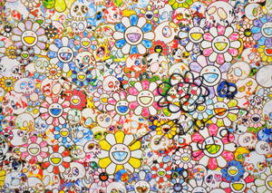 MURAKAMI vs MURAKAMI Poster (White) (Framed & Signed), 2019