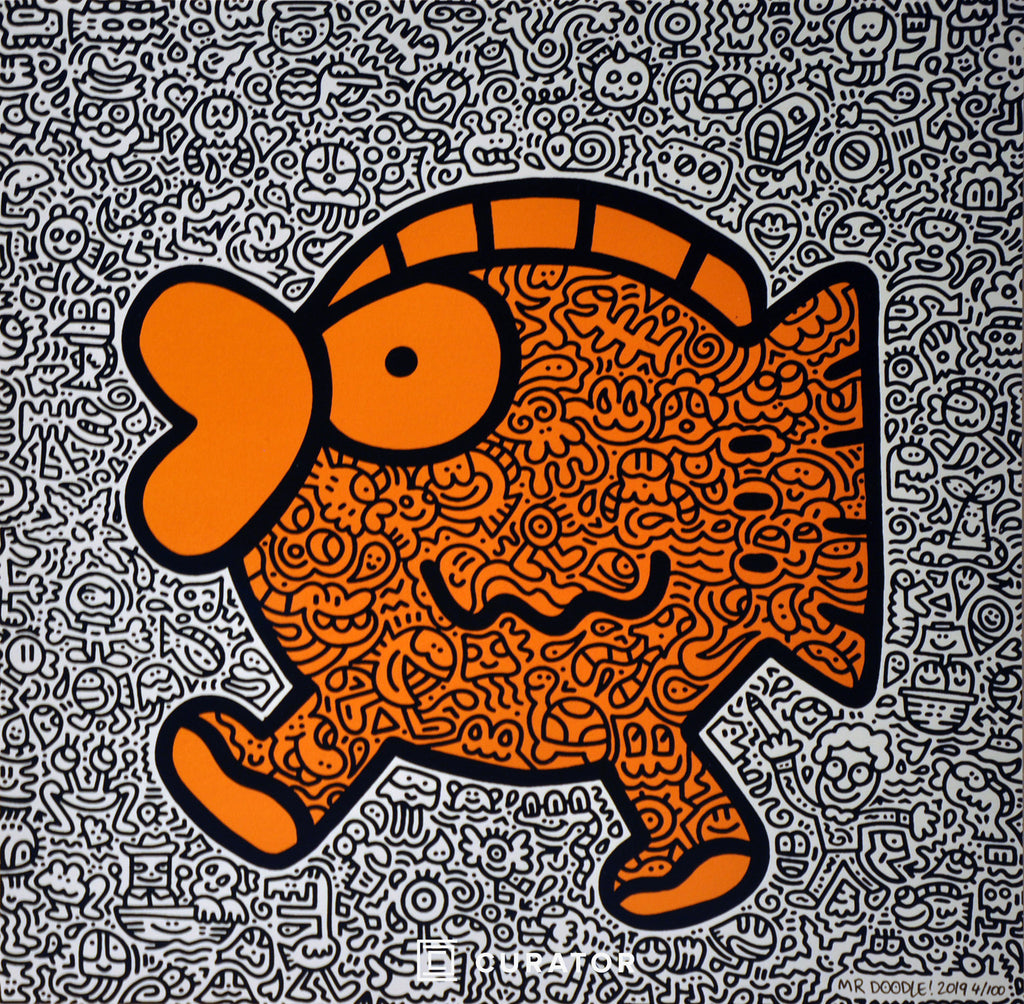 Orange Fish (Signed), 2019