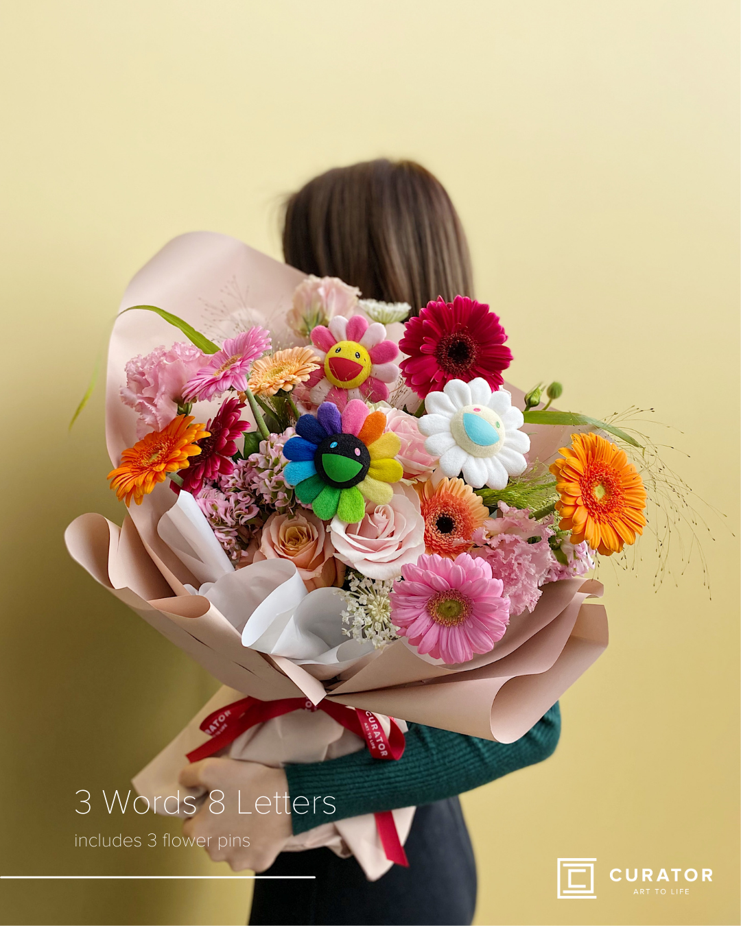 """3 Words 8 Letters"" Bouquet"