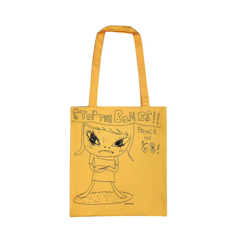 """STOP THE BOMBS !! PEACE IN '68"" Tote Bag"
