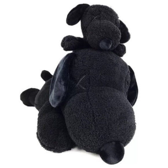 KAWS x Peanuts Black Snoopy Uniqlo Plush Toy (Black) (Set of 2), 2017