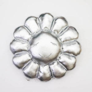 Flower Cushion 60 cm (Silver)