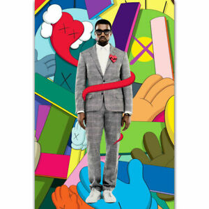KAWS X Kanye West 808s & Heartbreak Poster (With Frame), 2008