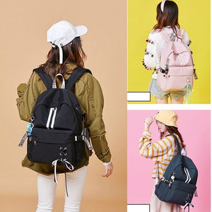 Anti Theft Reflective Waterproof Women Backpack USB Charge School Bags For Girls