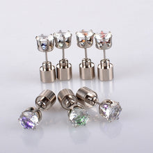 Load image into Gallery viewer, Women Luminous Earrings Diamond Shape Blinking Thick LED Earstuds