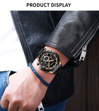 Load image into Gallery viewer, CURREN Blue Dial Date Stainless Steel Men Business Waterproof wristwatch
