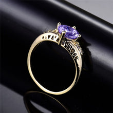 Load image into Gallery viewer, Wunderschöner 750 Gold beschichteter Amethyst Damen Ring