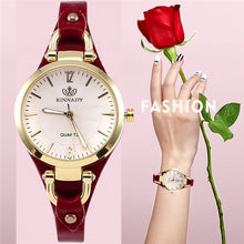 Load image into Gallery viewer, Women's Casual Watch Elegant Round Dial Studded PU Leather Strap