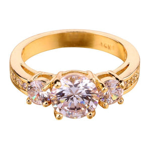 New 10kt Yellow Gold Filled White Sapphire Wedding Rings