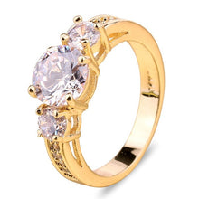 Load image into Gallery viewer, New 10kt Yellow Gold Filled White Sapphire Wedding Rings