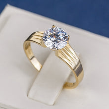 Load image into Gallery viewer, Women Dailyuse 18k Gold Diamond Wide Rings