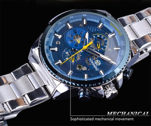 Luxury Brand Classic Mens Sport Mechanical Automatic Wrist Watches For Business
