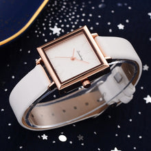 Load image into Gallery viewer, Top Modische Damen Square Leder Kristall Armband Uhr
