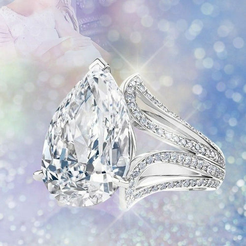Exquisite 925 Sterling Silver white Sapphire Ring for woman