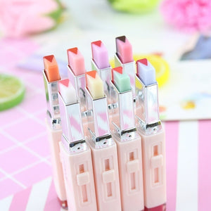 Double Color V Shape Gradient Lipstick Lip Gloss Long Lasting Candy Flavor