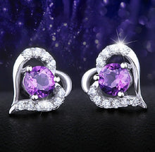 Load image into Gallery viewer, Zauberhafte 925 Sterling Silber Amethyst Damen Ohrringe