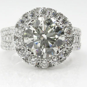 Exquisit 925 Sterling Silver Diamond Ring High Quality